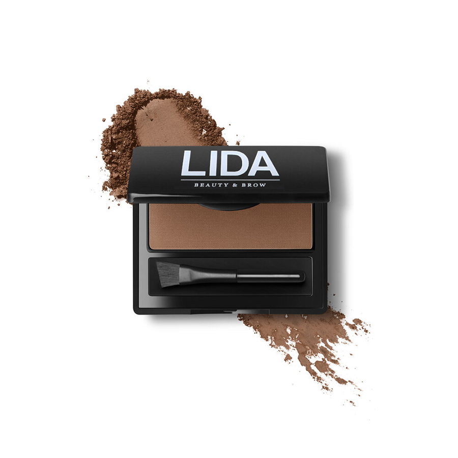 lida beauty and brow powder & brush